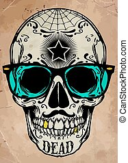 skull illustration / a mark of the danger warning / T-shirt...