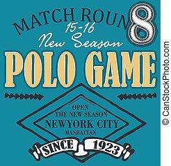 Polo club design set vector