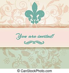 Luxury wedding invitation in Victor - Beautiful you are...