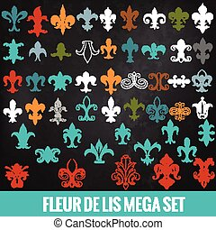 Collection of vector royal fleur de