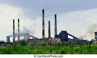 Garbage Recycling Plant - Working garbage recycling plant in...