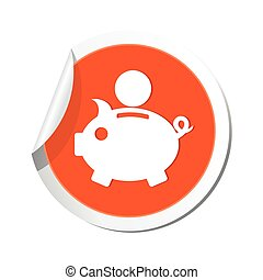 Piggy bank icon Vector illustration