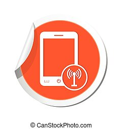 Phone with wireless icon. Vector illustration