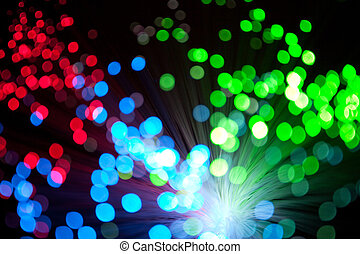 christmas lights - colorful defocused christmas lights under...