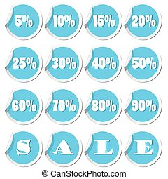 Sale tags. Vector illustration