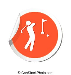 Golf icon. Vector illustration