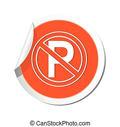 No parking sign, vector illustration.
