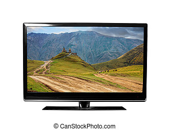 tv with picture - tv with the Georgian landscapes  view