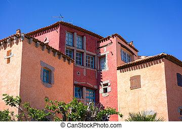 Colourful building in Porto Cervo