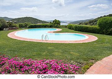 Swimming pool Hotel Aldiola Country Resort in Sardinia