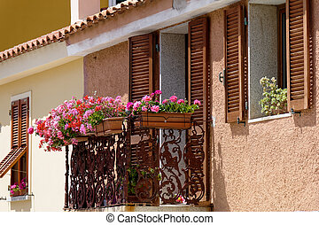 Typical building in Santa Teresa Gallura  Sardinia