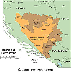 Bosina and Herzegovina, Administrative Districts and...