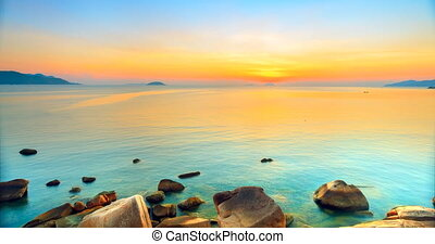 Sunrise over the sea Timelapse