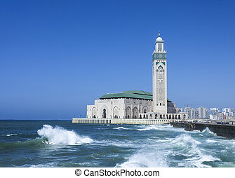 Mosque Hassan II in Casablanca - The Hassan II Mosque in...