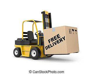 Free delivery - Transportation concept Isolated on white