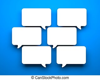 Speech bubbles - Conceptual image Isolated on white