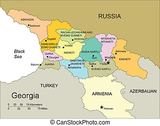 Georgia, Country, Administrative Districts, Capitals