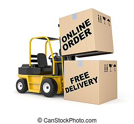 Online order - Business concept. Isolated on white