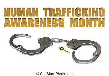 Human Trafficking Awareness Month concept