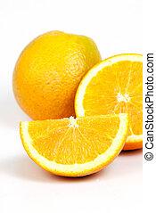 Orange fruit fresh - Orange fruit split on white background
