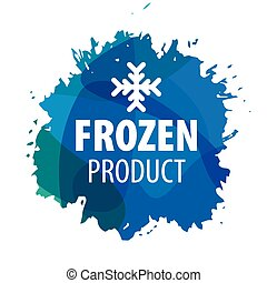 vector logo with snowflake for the frozen products