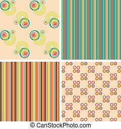 Vector set of seamless patterns for the fabric
