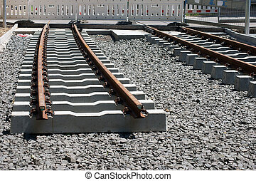 Railway construction - The construction of a railway line...