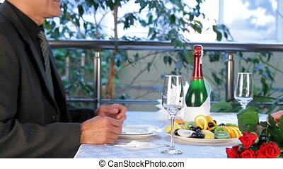 Relax In The Restaurant - Mature couple having dinner in a...