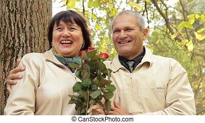 Merry Elderly Couple