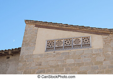 Latticework - Detail of a window with a lattice in a village...