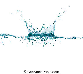 water splash on white background, studio shots