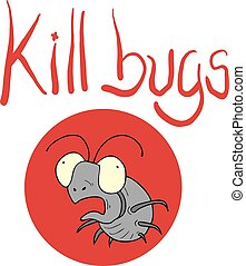 kill bugs icon - Creative design of kill bugs icon
