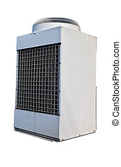 Industrial modern air condition unit isolated on white -...
