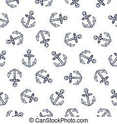 Anchor seamless pattern - Vector seamless pattern design...