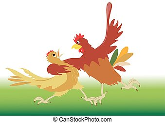 Dance performed by the rooster and hen