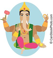 illustration of statue of Lord Ganesha Chaturthi