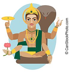 vector lord Vishnu  - vector illustration lord Vishnu