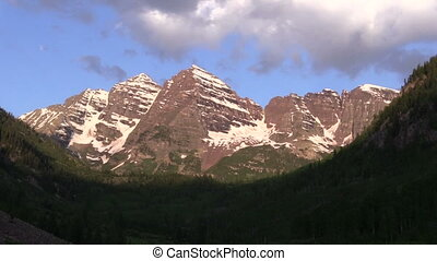 Maroon Bells Sunrise - sunrise at the scenic maroon bells...