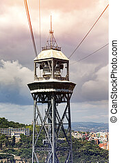 Torre Jaume Barcelona,  funicular tower in summer