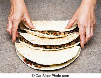 Quesadillas, mexicano