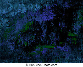 Jagged Blue - Abstract canvas in blue