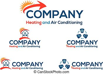 Air conditioning business logo or icon, vector file easy to...