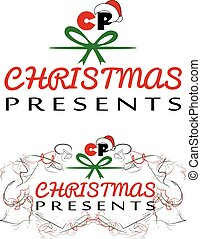 Christmas Presents logo, vector EPS file fully editable