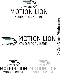 Motion lion logo design - Illustration of motion lion logo...