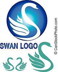 Colorful swan logo