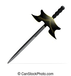 sword - an isolated vector illustration of a big sword ,...