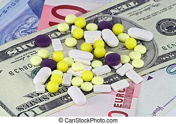 Pills on the money