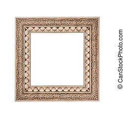 frame isolated on a white background stone