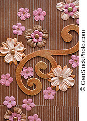 background flowers scrapbooking