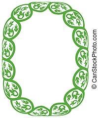 Vector green frame
